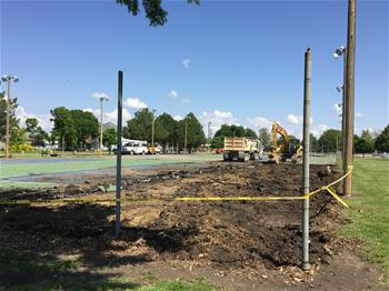 Removal of Existing Tennis Courts