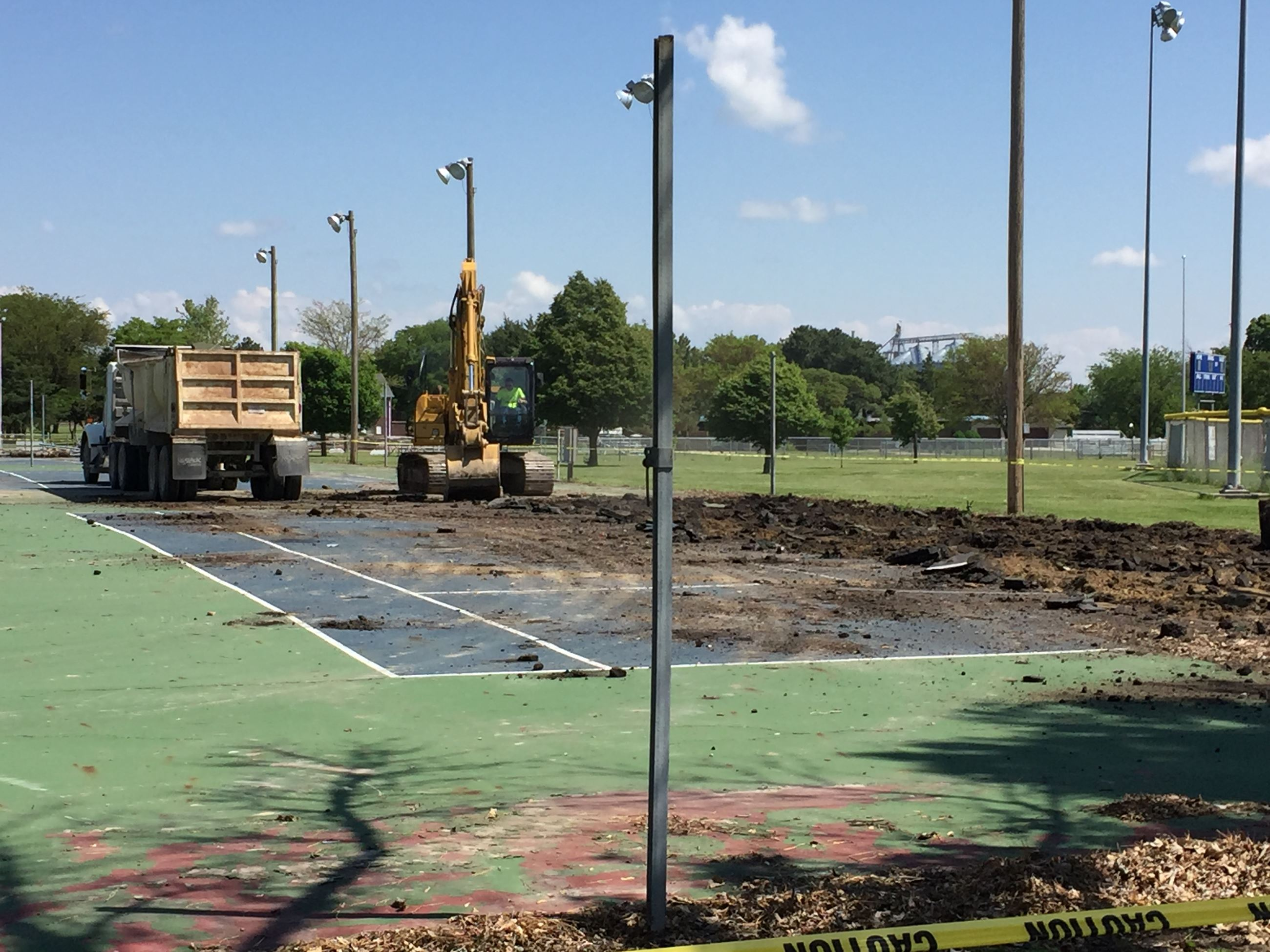 Tennis Court Removal