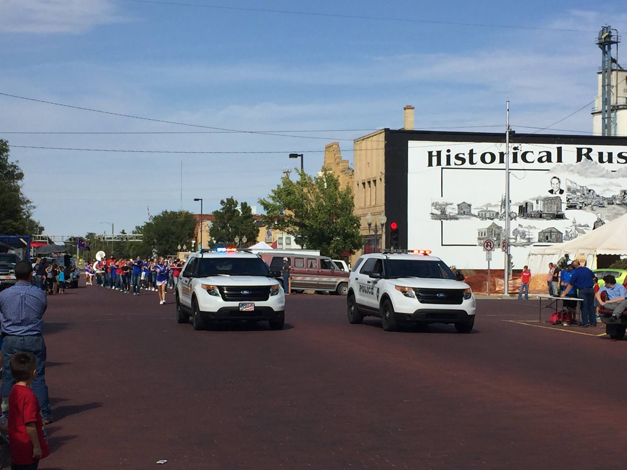 Police Vehicles in Parade